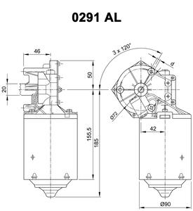 Nidec DC motor 403 383
